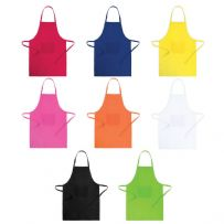 Plain Chefs Apron with Bib Pockets and Adjustable Neck